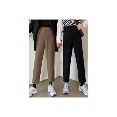 【送料無料】秋 韓国風 ハイウエストワイドパンツ 着やせ 何でも似合う スーツのズボ   346770_A63751-8108158