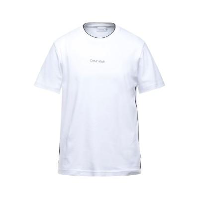 カルバン クライン CALVIN KLEIN T シャツ ホワイト XS コットン BCI 100% T シャツ