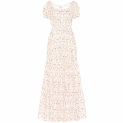 キャロライン コンスタス Caroline Constas レディース ワンピース ワンピース・ドレス Bardot stretch cotton maxi dress White Pink