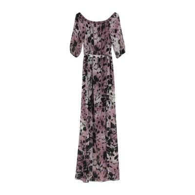 BIANCOGHIACCIO ロングワンピース&ドレス ガーネット 40 ポリエステル 100% ロングワンピース&ドレス