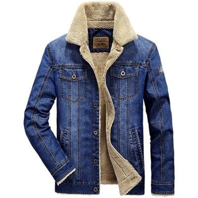 デニムジャケット メンズ 冬 裏起毛 厚手 防寒 ライダース ジャケット テーラードジャケット 大きいサイズ カジュアル おしゃれ アウター コート