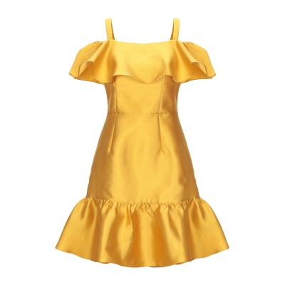 BY MALINA ミニワンピース&ドレス オークル XS ポリエステル 100% ミニワンピース&ドレス