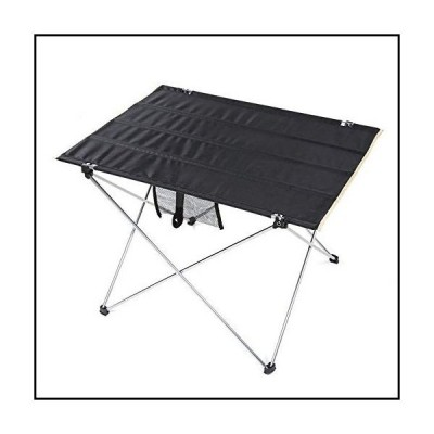 【新品】Ultralight Folding Camping Table, Portable Roll Up Camp Tables with Carrying Bag - Mesh Pocket Non-Slip Foot Cover - for Outdoor