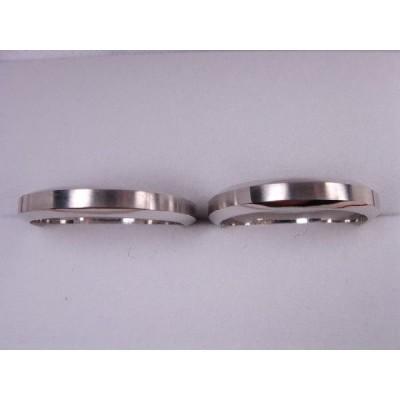 プラチナマリッジリング結婚指輪 シンプル台型甲丸ペア2本セット