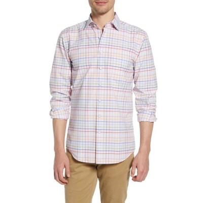 ロッドアンドガン メンズ シャツ トップス Wiltshire Check Regular Fit Button-Up Shirt QUARTZ
