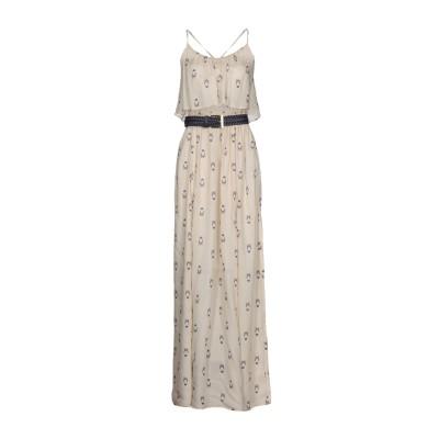 ELISABETTA FRANCHI ロングワンピース&ドレス アイボリー 40 100% レーヨン ロングワンピース&ドレス