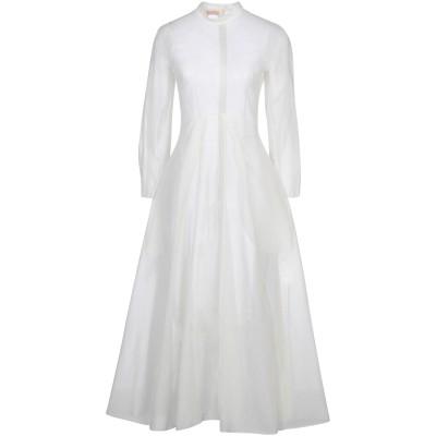 BROCK COLLECTION ロングワンピース&ドレス アイボリー 2 ナイロン 100% ロングワンピース&ドレス