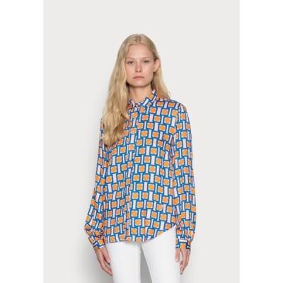 エミリー バン デン バーグ シャツ レディース トップス BLOUSE - Button-down blouse - orange/nude/blue