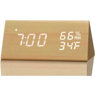 デジタル目覚まし時計ラジオ、寝室用の小さな目覚まし時計、0.6インチLED桁調光可能Ledディスプレイ、簡単なスヌーズ、スリープタイマー、バッテリーバ