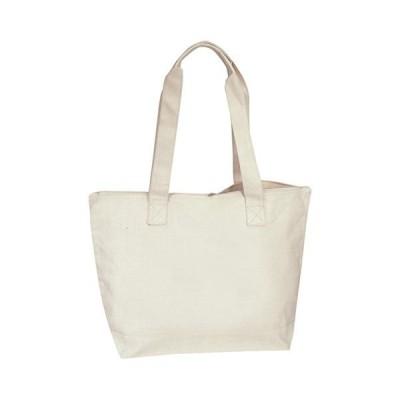 Cotton Canvas Zippered Tote Bag並行輸入品 送料無料