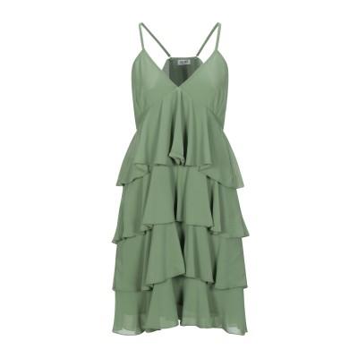 リュー ジョー LIU •JO ミニワンピース&ドレス グリーン 44 ポリエステル 100% ミニワンピース&ドレス