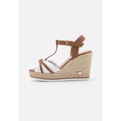 トム テイラー レディース 靴 シューズ Platform sandals - camel/white