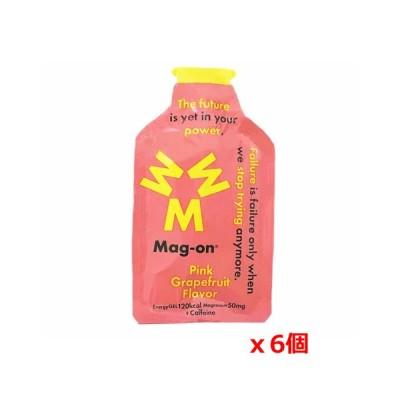 【ゆうパケット配送対象】 Mag-on(マグ・オン) マグネシウムチャージサプリメント Mag−on エナジージェル ピンクグレープフルーツフレーバー x6個 (ポスト投