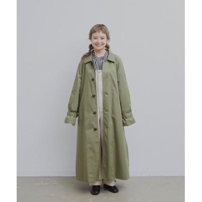 merlot / ステンカラーオーバーコート WOMEN ジャケット/アウター > ステンカラーコート