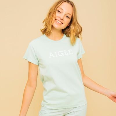 エーグル AIGLE 吸水速乾 エーグル グラフィック ロゴTシャツ (ライトグリーン)