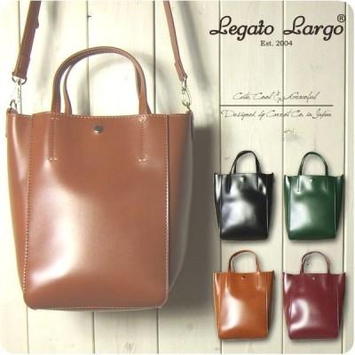Legato Largo レガートラルゴ ショルダーバッグ レディース シャイニーフェイクレザー 2WAY トートバッグ