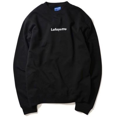 Lafayette SMALL LOGO CREW NECK SWEATSHIRT ラファイエットスモール ロゴ クルーネック トレーナー 黒