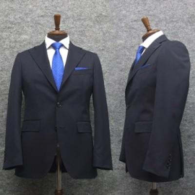 ニュートレンドスーツ 2タックパンツ スタイリッシュ段返り3釦シングルスーツ 濃紺/無地 秋冬物 [Y体][A体][AB体] メンズ J117