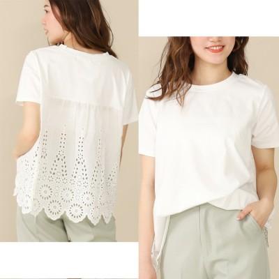 ANAP バックレース切替Tシャツ / CHILLE / 523-5817 ホワイト  レディース