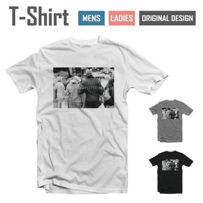 Tシャツ メンズ レディース 半袖 おしゃれ ブラック ホワイト グレー 綿100% カジュアル フォト モノクロ