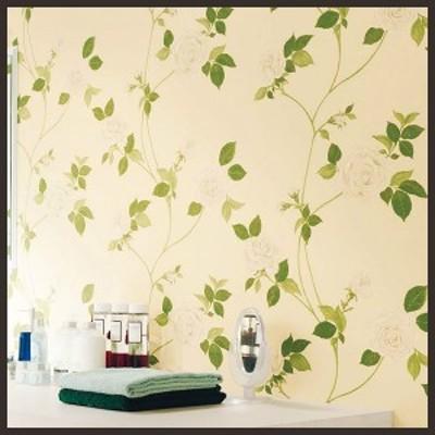 【 壁紙 のり付き DIY】 壁紙 のりつき クロス フェミニン・エレガンス 薔薇 バラ 防かび