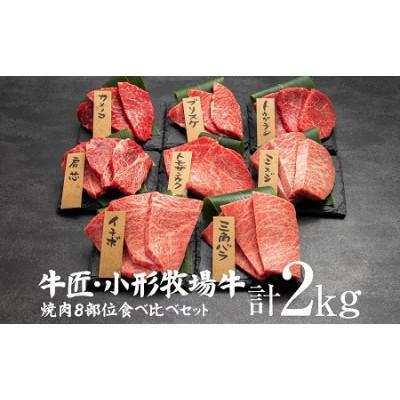 小形牧場牛 《希少部位》焼肉8部位食べ比べセット!  2kg