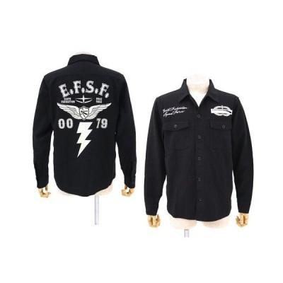【送料無料対象商品】コスパ 機動戦士ガンダム 地球連邦軍B.D.Uシャツジャケット BLACK