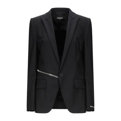 ディースクエアード DSQUARED2 テーラードジャケット ブラック 48 バージンウール 95% / ポリウレタン 5% テーラードジャケット