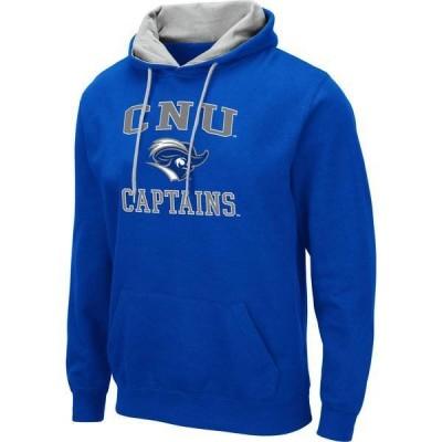コロシアム メンズ パーカー・スウェット アウター Colosseum Men's Christopher Newport Captains Royal Blue Pullover Hoodie