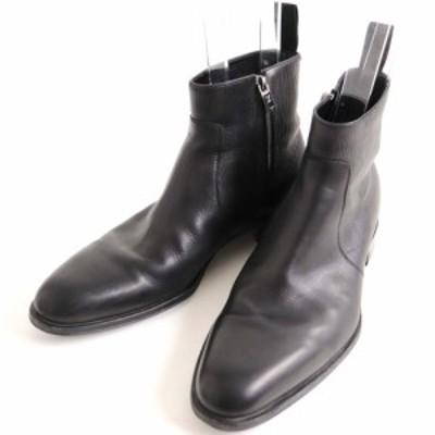 美品▽2018年製 ルイヴィトン レザー×エピレザー サイドZIP ショートブーツ ブラック 8 1/2 イタリア製 メンズ