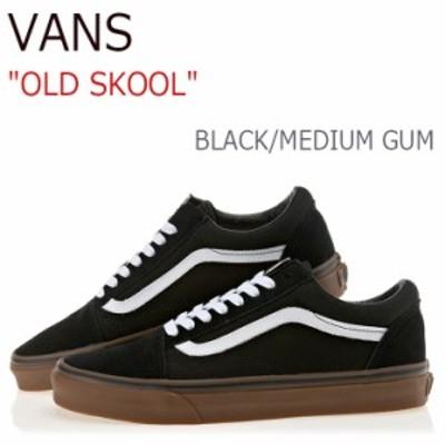 バンズ オールドスクール VANS メンズ レディース MEDIUM GUM ガムソール ブラック VN0001R1GI6 シューズ