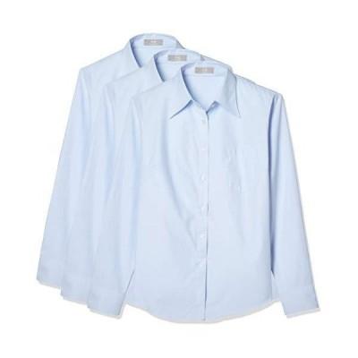 [ブランシェ] レディース 【 透けない シャツ 】 3枚セット 白 黒 ピンク 青 レディースシャツ レギュラー スキ?