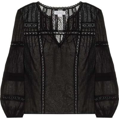 ベルベット グラハム&スペンサー Velvet レディース ブラウス・シャツ トップス pia cotton blouse Black