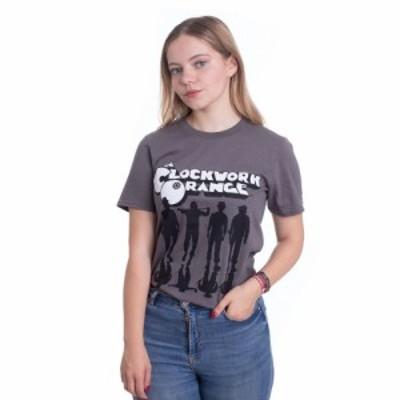 インペリコン Impericon レディース Tシャツ トップス - Clockwork Orange Shadows Dark Grey - T-Shirt grey