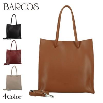 BARCOS 2wayレザーシンプルトートバッグ レディース 全4色 ONESIZE バルコス