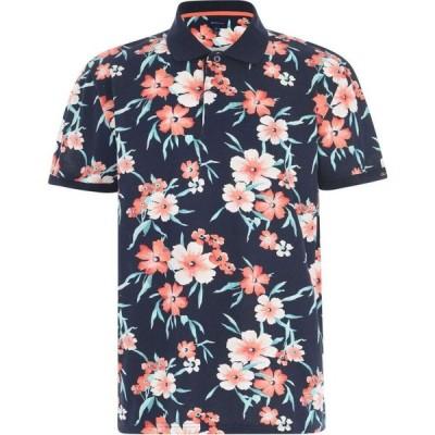ガント Gant メンズ ポロシャツ トップス All Over Print Polo Shirt Blue