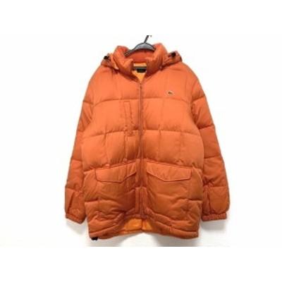 ラコステ Lacoste ダウンコート サイズ54/5 メンズ - オレンジ 長袖/フード取り外し可/冬【中古】20210124