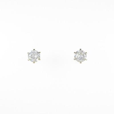 【リメイク】K18YG/ST ダイヤモンドピアス 0.623ct・0.643ct・J−L・VS2・GOOD