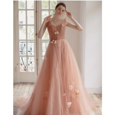 レディース ロング丈 ドレス 結婚式 パーティー かわいい 花柄