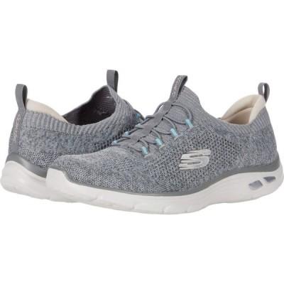 スケッチャーズ SKECHERS レディース スニーカー シューズ・靴 Empire D'Lux - Sharp Witted Grey/Light Blue