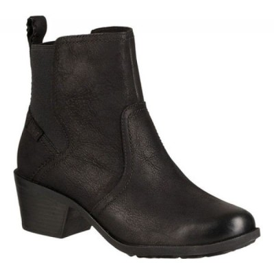 テバ Teva レディース ブーツ シューズ・靴 Anaya Waterproof Chelsea Boot Black Leather