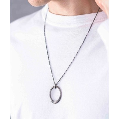 ability / GILD ギルド / Undulate ellipse ring necklace シルバー925 リングチェーンネックレス / G211-NE01 MEN アクセサリー > ネックレス