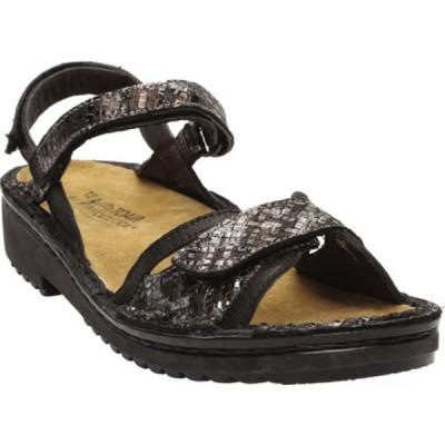 ナオト サンダル シューズ レディース Aeres Strappy Slingback Sandal (Women's) Soft Black/Mixed Metallic Leather