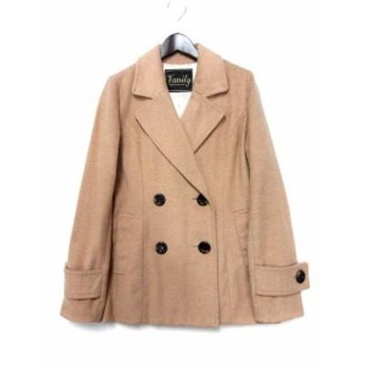 【中古】ヴァニティグラマラス Vanity Glamourous コート キャメル ウール混 ダブル ボタン レディース