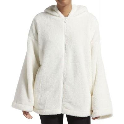 ケンダル&カイリー Kendall + Kylie レディース ジャケット アウター Solid Zip Up Bed Jacket Off White
