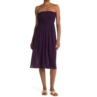 エヌ・エス・アール レディース ワンピース トップス Sara Strapless Smocked Midi Dress ACAI BERRY