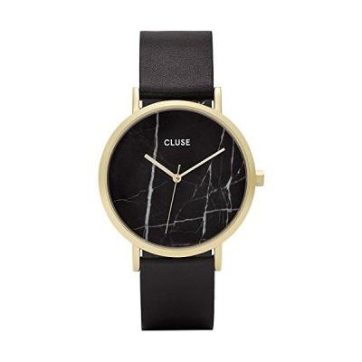 海外取寄品--Cluse Women's La Roche CL40004 Black Leather Quartz Dress Watch