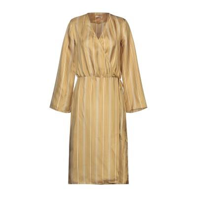 マッシモ・アルバ MASSIMO ALBA 7分丈ワンピース・ドレス オークル S シルク 100% 7分丈ワンピース・ドレス