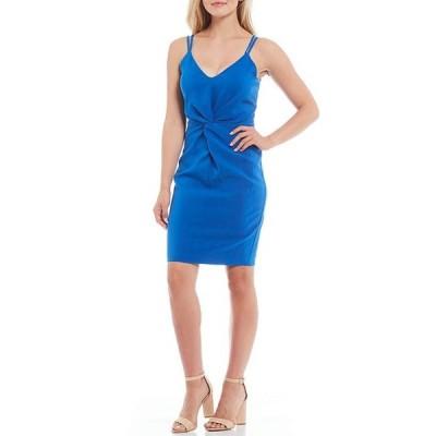 ランドリーバイシェリーシーガル レディース ワンピース トップス Crepe Twist Front V-Neck Sleeveless Sheath Dress