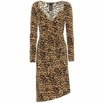 ノーマ カマリ Norma Kamali レディース ワンピース ミドル丈 ワンピース・ドレス Leopard-print midi dress Golden Leopard